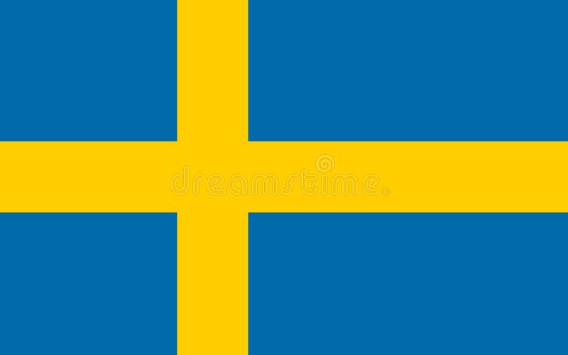 Sweden vector flag. Official flag of Sweden. Stockholm vector illustration