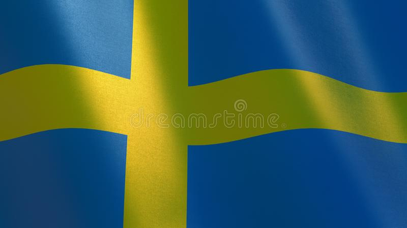 Sweden waving flag. 3d illustration vector illustration