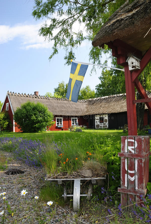 Download Swedish agritourism stock image. Image of outdoor, house - 19874381