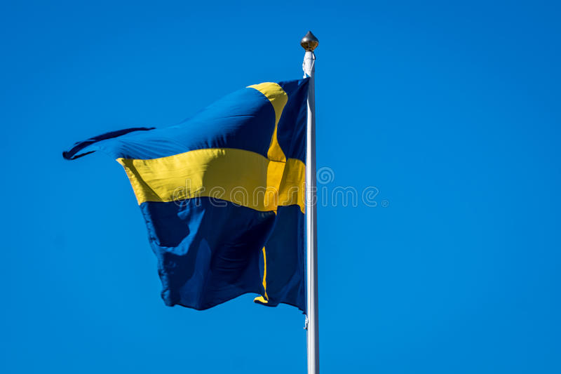 Swedish banner royalty free stock photo