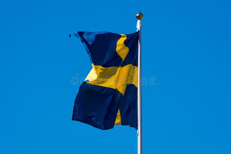 Swedish banner royalty free stock image