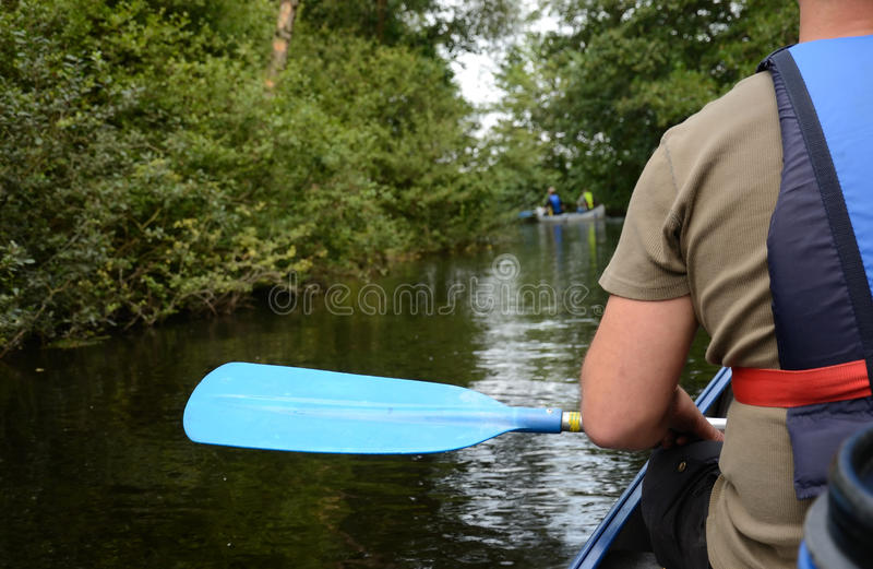 Swedish canoe adventure royalty free stock photos
