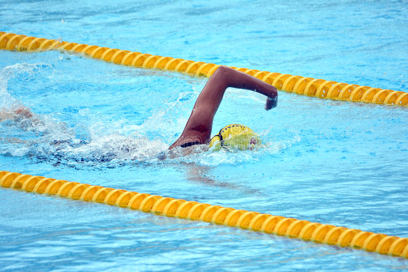 Swedish championship in swimming. In Boras Sweden 2014 stock photography