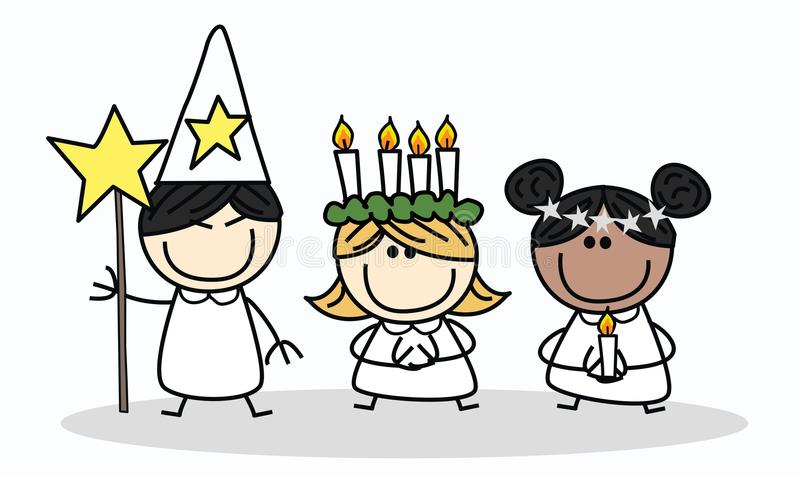 Swedish christmas tradition vector illustration