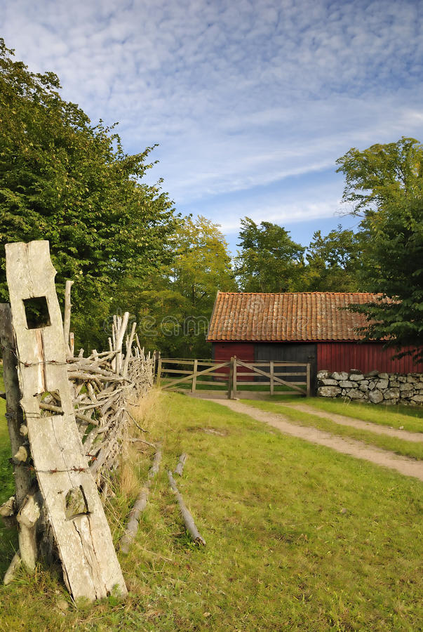 Swedish country details stock images