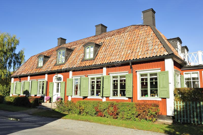 Download Swedish country house editorial stock image. Image of building - 41478424