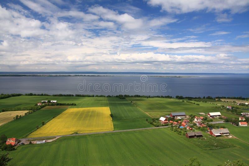 Download Swedish countryside stock image. Image of summer, lake - 12764069