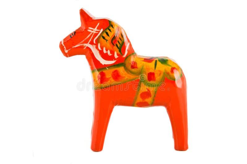 Swedish Dala horse. Traditional Red Swedish Dala horse stock images