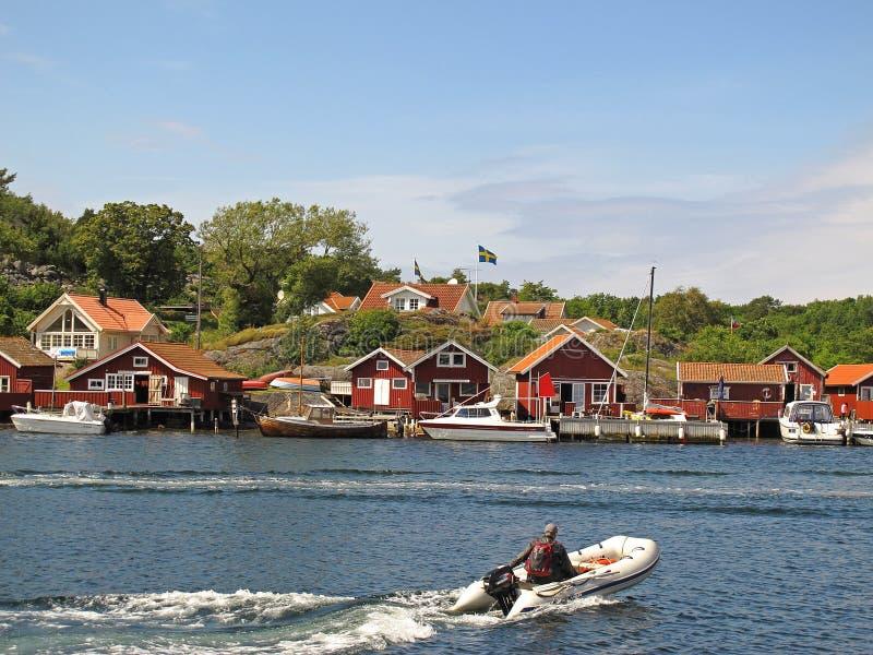 Swedish Fishing Village, Kosterhavet Editorial Stock Image