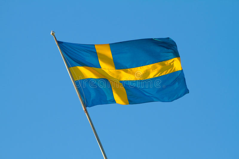 Swedish Flag. Royalty Free Stock Images