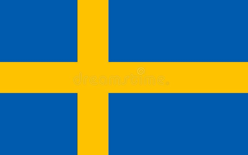 Swedish Flag accurate royalty free illustration