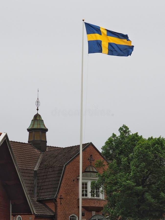 The Swedish flag royalty free stock photography