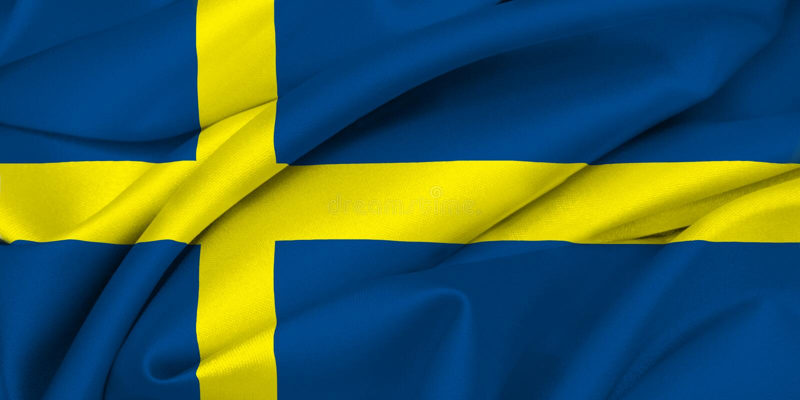 Swedish Flag - SWEDEN stock photo