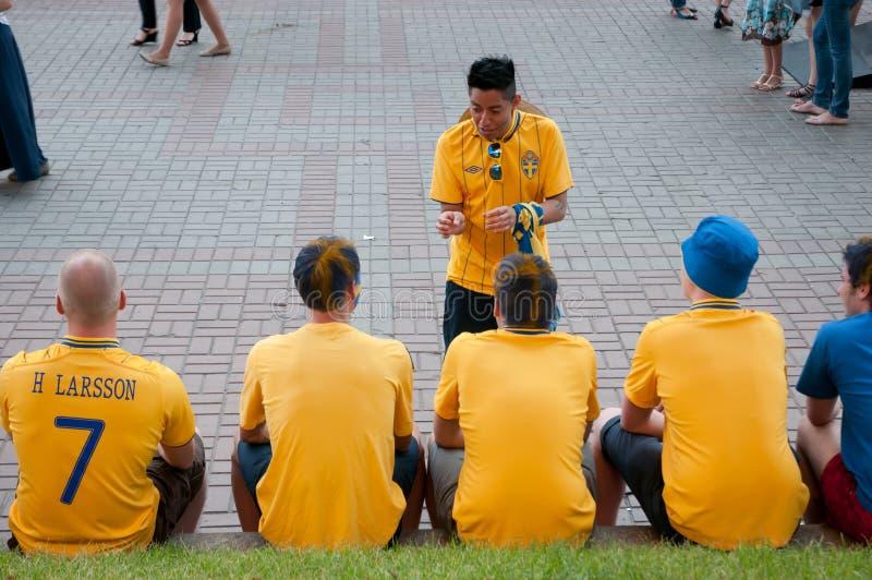 Swedish Football Fans On Euro 2012 Editorial Image