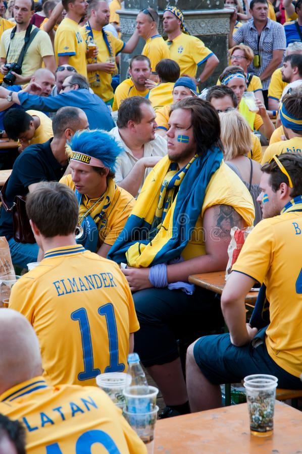 Download Swedish Football Fans On Euro 2012 Editorial Image - Image: 25233865