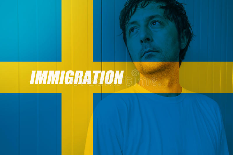 Swedish immigration concept royalty free stock image