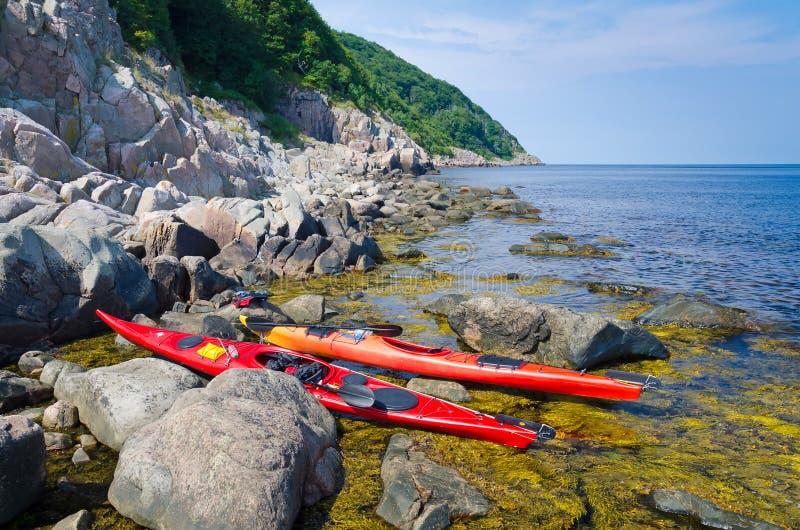 Swedish kayak trip stock image