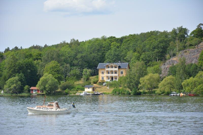 Swedish lakeside manor royalty free stock images