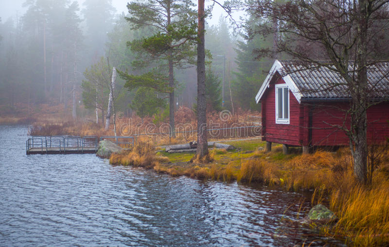 Swedish Lakeside royalty free stock photography