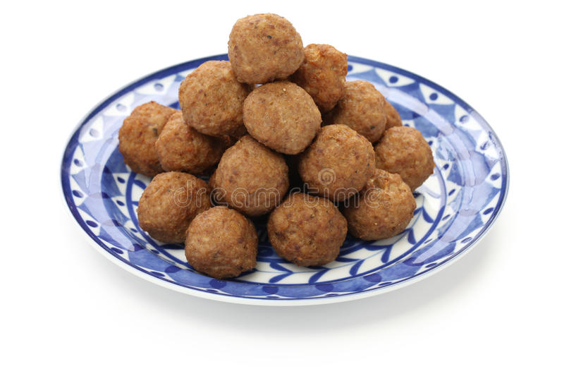 Swedish meatballs, svenska kottbullar royalty free stock image