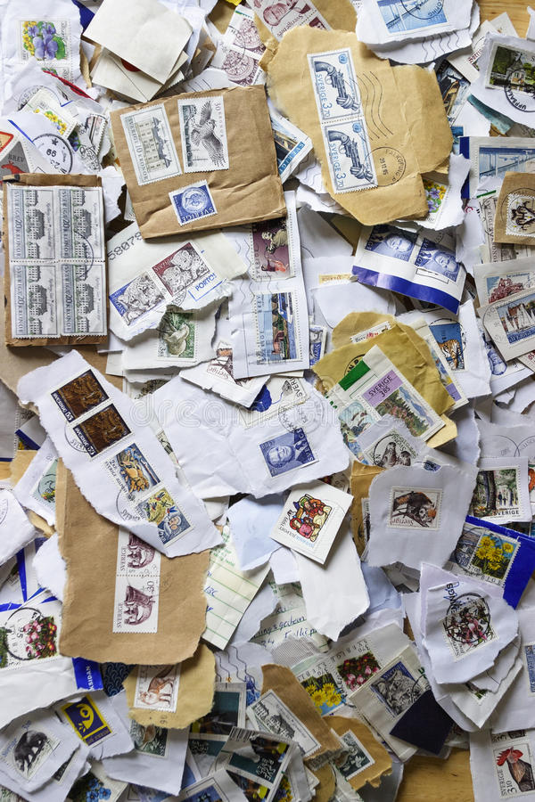 Download Swedish postage stamps stock photo. Image of mail, many - 28086322