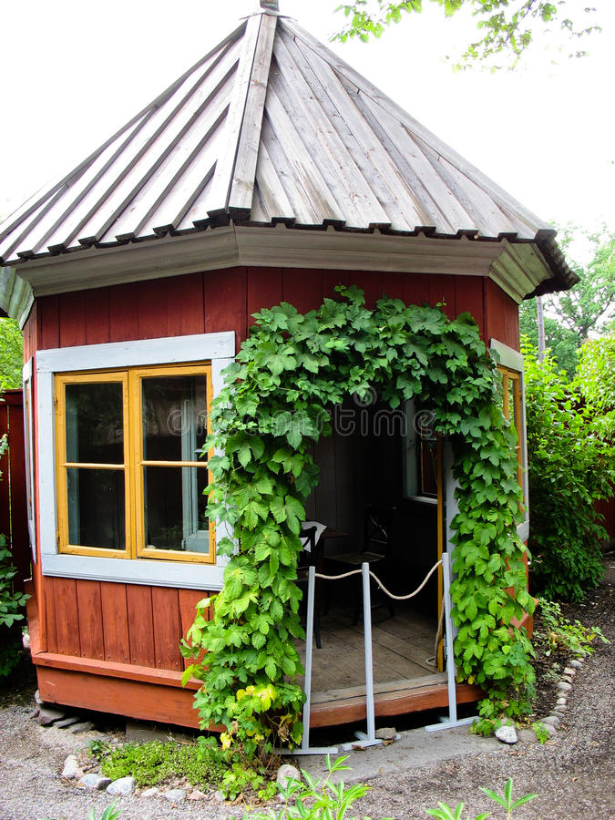 Download Swedish Red And Yellow Cabin Stock Image - Image: 25773773