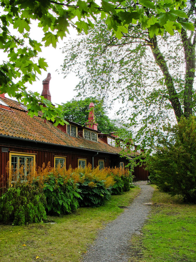 Download Swedish Red And Yellow Cabin Stock Photo - Image: 25773796