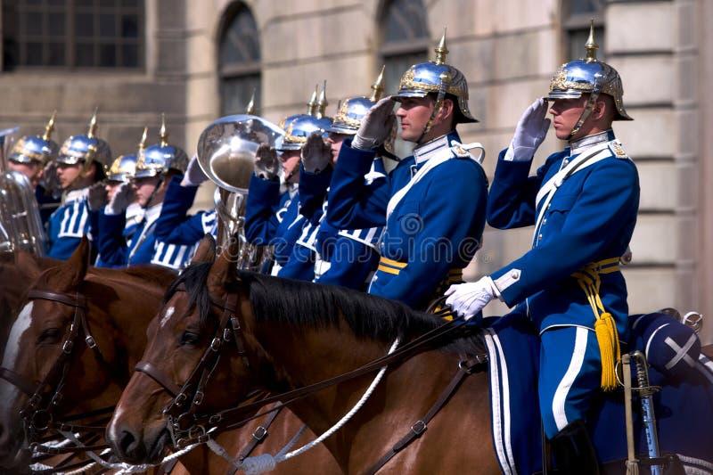 Swedish Royal Guard royalty free stock photos
