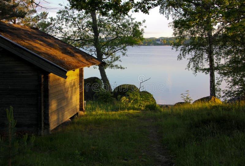 Swedish sauna royalty free stock image