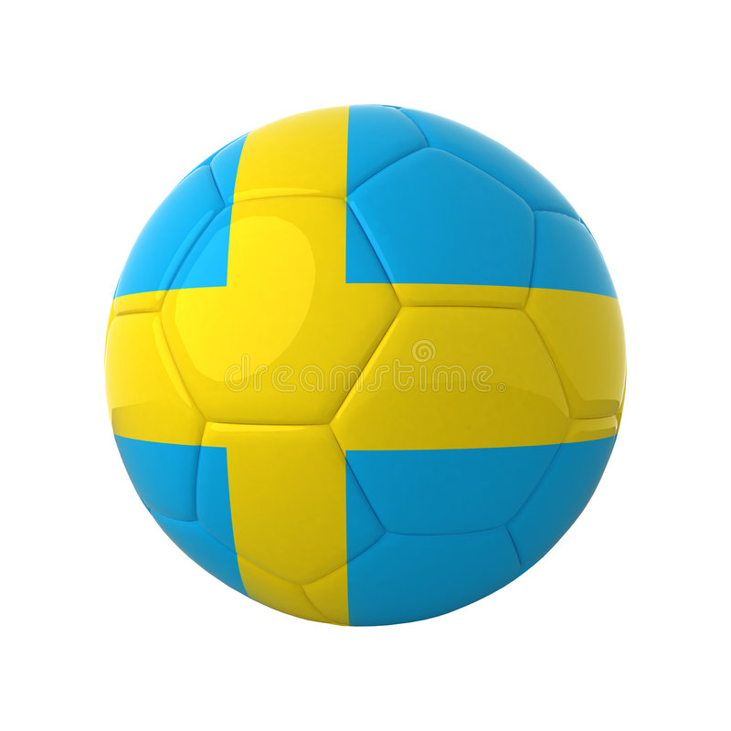 Swedish soccer. royalty free stock images