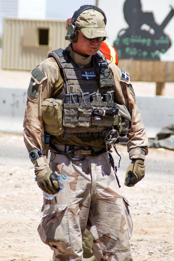 Free Swedish Solder At U.S Military Rescue Training Stock Photo - 40750350