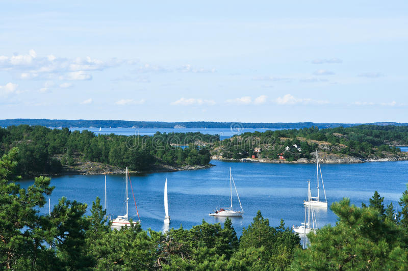 Swedish summer in the archipelago royalty free stock images