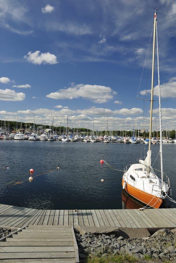 Swedish yacht marina royalty free stock image