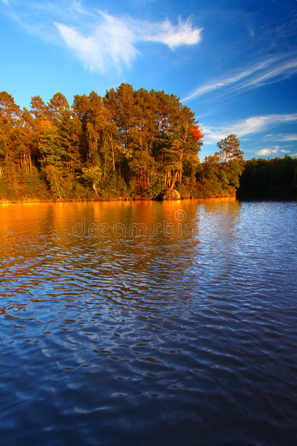 Sweeney Lake Northwoods Wisconsin royalty free stock images