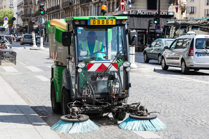 Download Sweeper editorial photography. Image of parisian, cleaner - 43756152