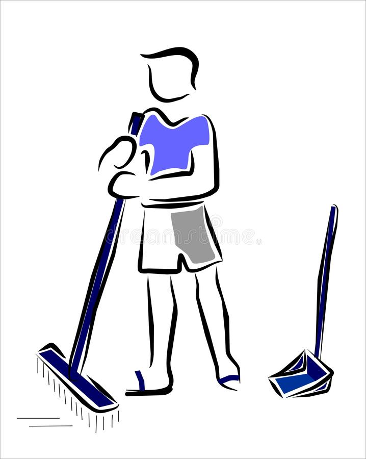 Sweeping The Floor Stock Photography