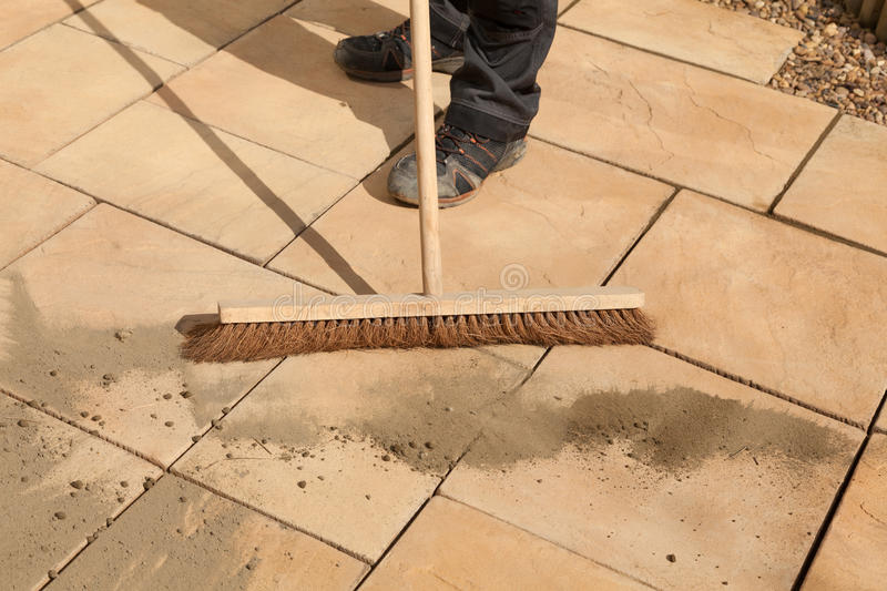 Sweeping Paving Area stock photo