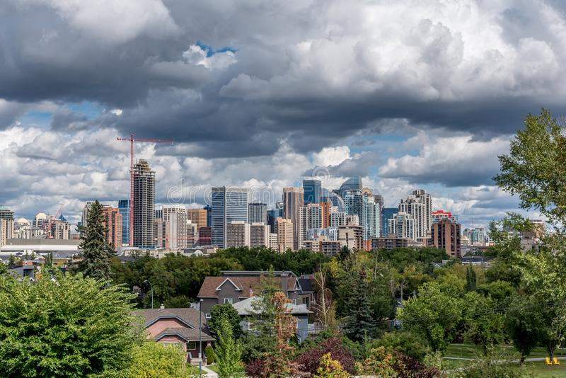 Sweeping skyline view in Calgary royalty free stock photos
