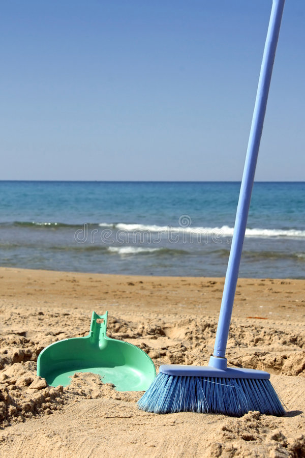 Free Sweeping The Beach (irony) Stock Images - 6639284