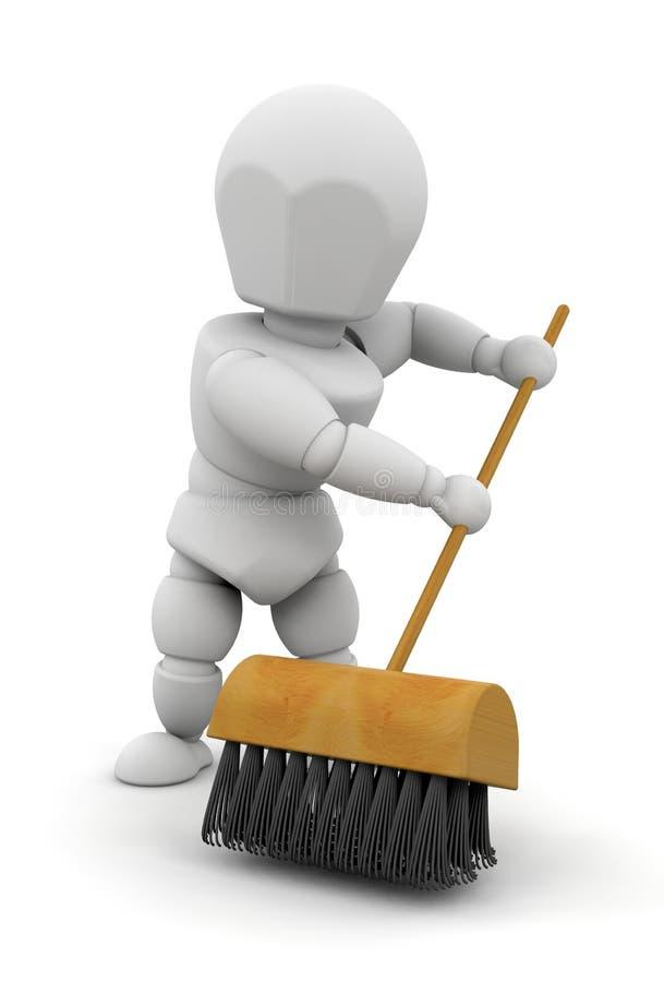 Download Sweeping up stock illustration. Illustration of broom - 5724982