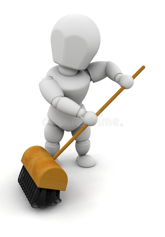 Download Sweeping up stock illustration. Image of render, sweeping - 6165013