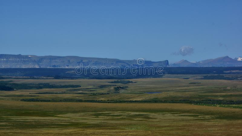 Napi Peak Along The Northern Rocky Mountain Front royalty free stock photography