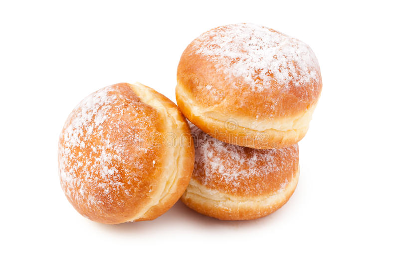 Sweer donuts with sugar royalty free stock image