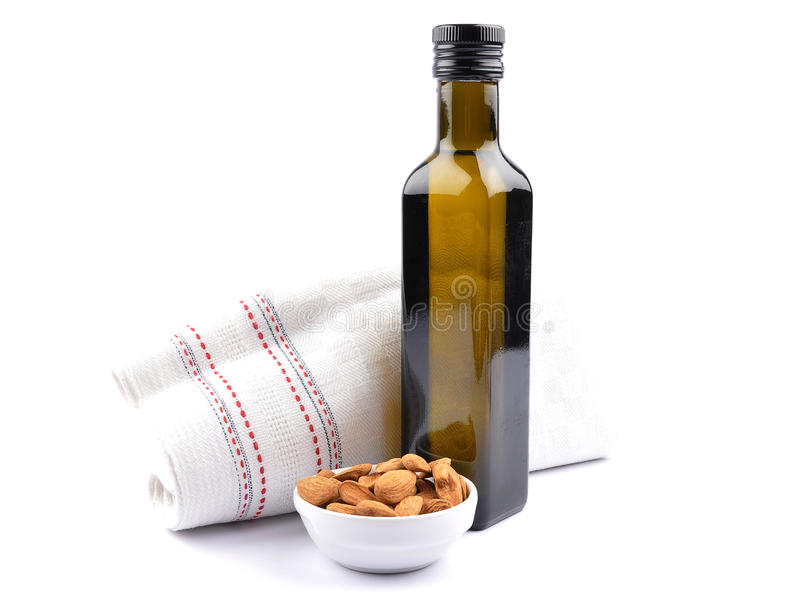 Sweet almond oil royalty free stock photography