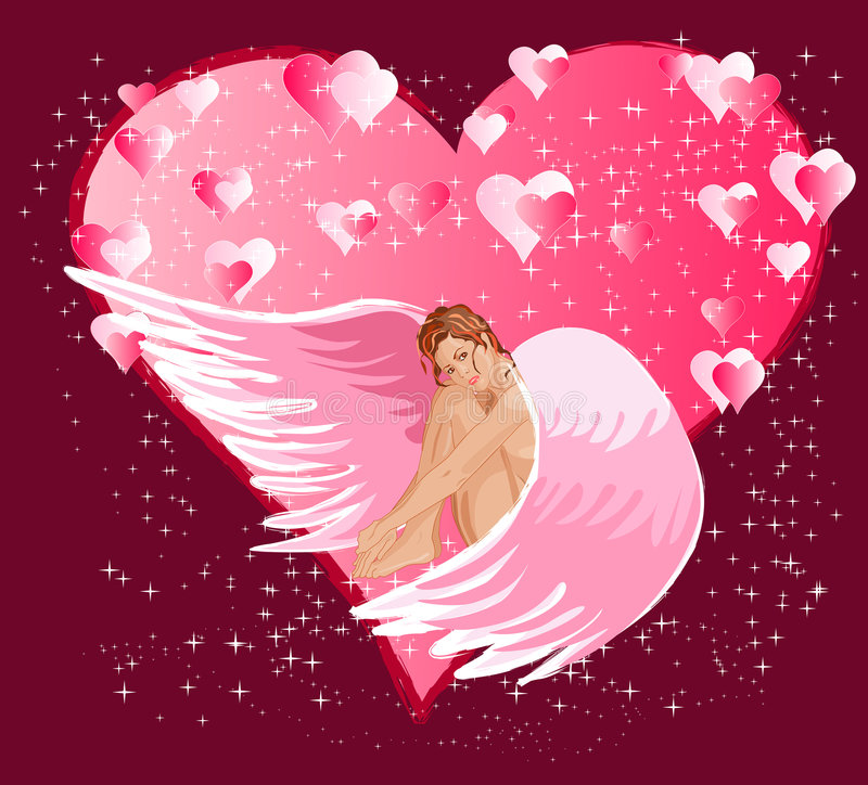 Sweet angel stock illustration