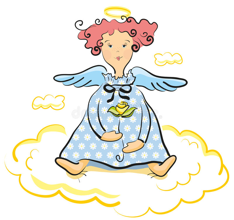 Download Sweet angel stock vector. Illustration of kindness, wings - 23980425