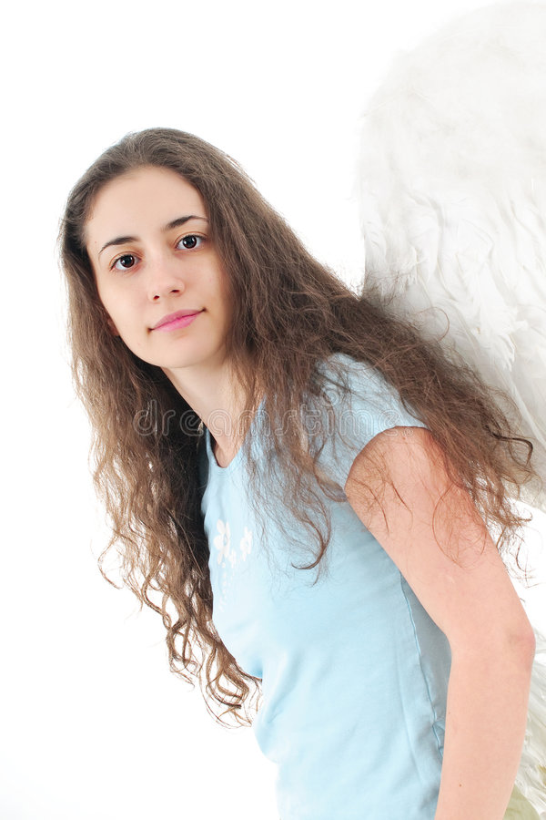 Sweet angel woman royalty free stock photo