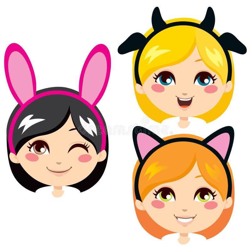 Sweet Animal Headbands vector illustration