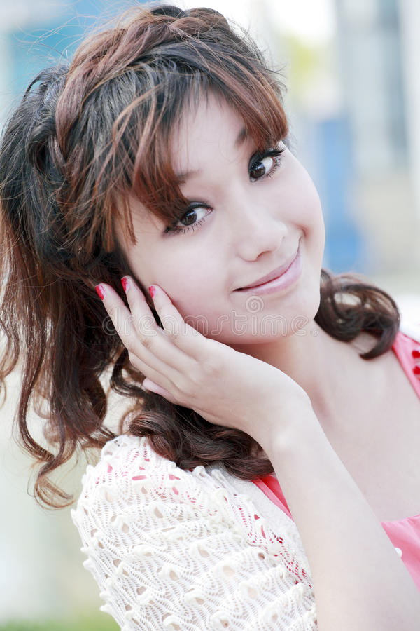 Sweet Asian girl portrait stock image