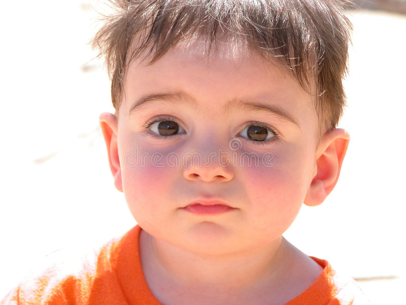 Download Sweet Baby Boy stock image. Image of caucasian, sweat, tired - 34299